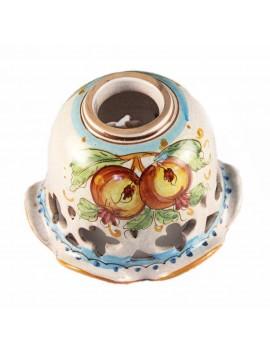Piatto D.16 decoro Melograno ceramica siciliana ricambio lampadario