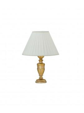 Lume grande 1 luce classico in legno foglia oro Dora big