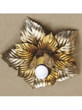 Classic ceiling light in wrought iron gold-silver 1 light Esse 132/1P