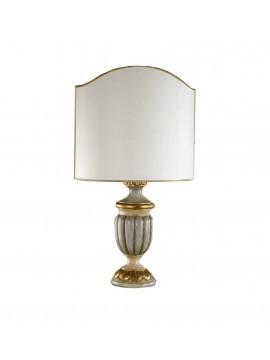 Lume grande classico in legno verde-foglia oro 1 luce Esse 490/bg