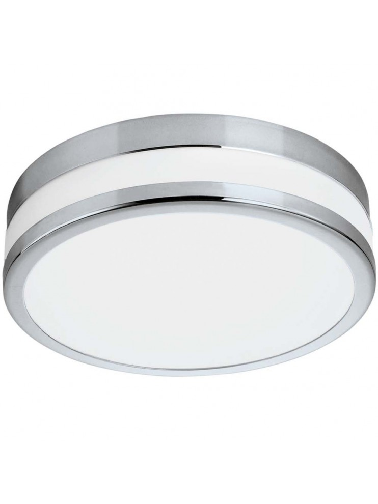 24w chromed LED ceiling light with GLO 94999 Led Palermo glass