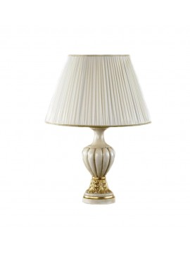 Lume large classic wood ivory gold leaf 1 light Esse 580 / bg
