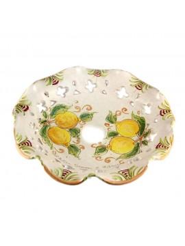 Piatto D.30 decoro Limoni ceramica siciliana ricambio lampadario