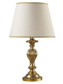Lume grande classico in legno foglia argento-oro 1 luce Esse 725/bg