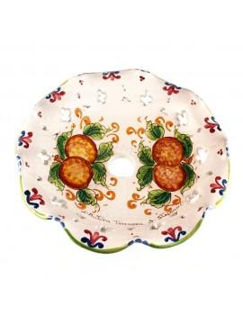 Piatto D.30 decoro Mele ceramica siciliana ricambio lampadario