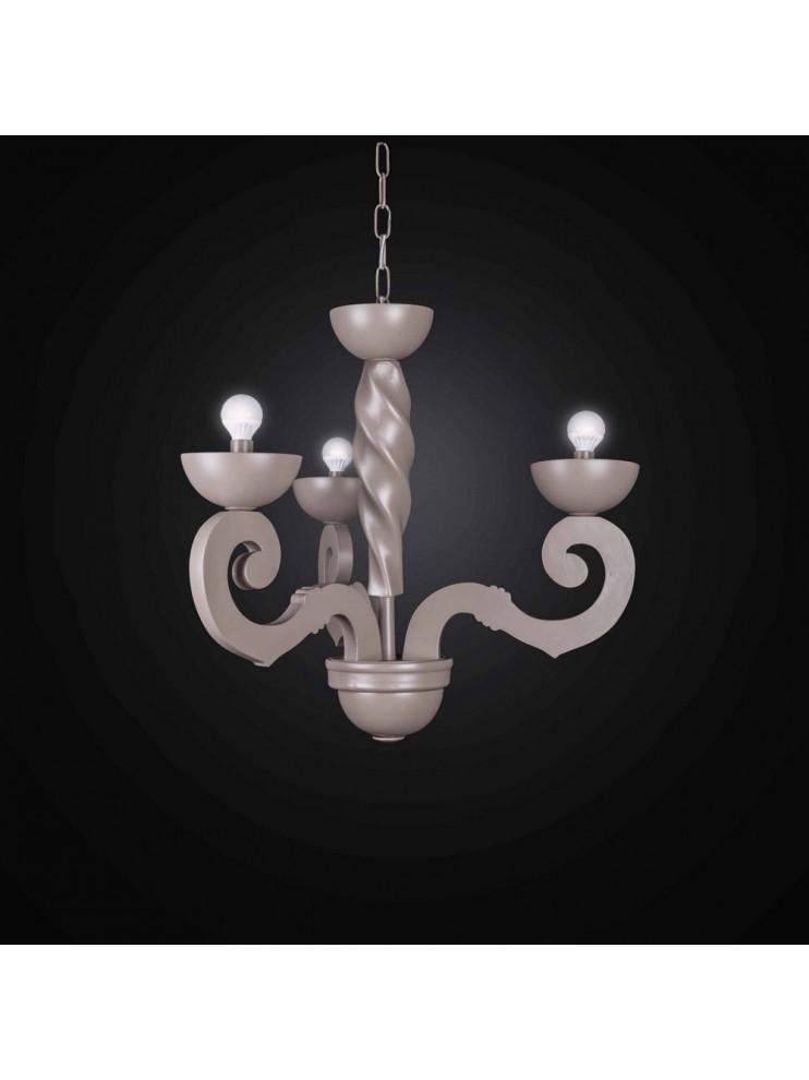 Lampadario moderno in legno e ceramica 3 luci bga 2748 3 for Lampadario legno moderno