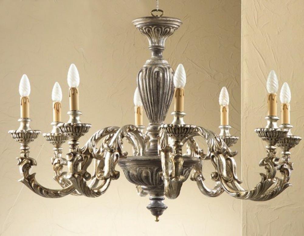 Applique classico bronzo oro con vetro glo savoy