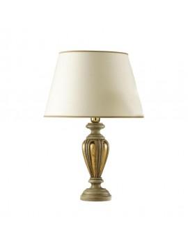 Lume grande classico in legno foglia oro 1 luce Esse 760/bg