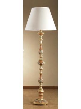 Piantana classica in legno antichizzato 1 luce Esse 570/t
