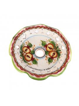 Piatto D.30 decoro Melograno ceramica siciliana ricambio lampadario