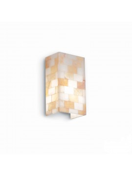 Contemporary alabaster stone effect 1 light Chess wall light