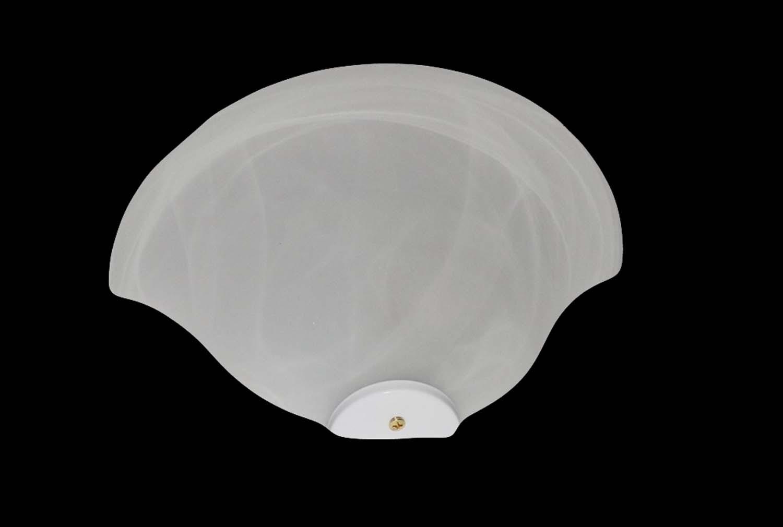Applique classico in vetro 1 luce duna bianco
