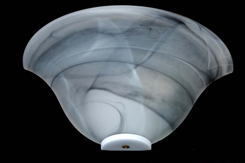 Applique classico in vetro 1 luce duna nero