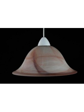 Sospensione classica in vetro 1 luce D.30 Duna Ambra