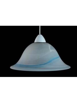 Sospensione classica in vetro 1 luce D.30 Duna Azzurro