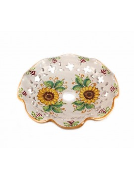 Piatto D.30 decoro Girasoli ceramica siciliana ricambio lampadario