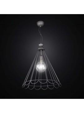 Vintage anthracite chandelier 1 light BGA 2557 / S45