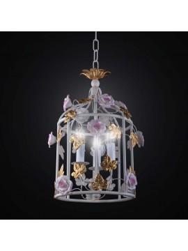 Vintage wrought iron chandelier 3 lights BGA 2611 / S25