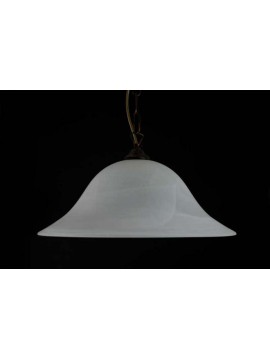 Classic suspension in glass 1 light D.40 White Dune
