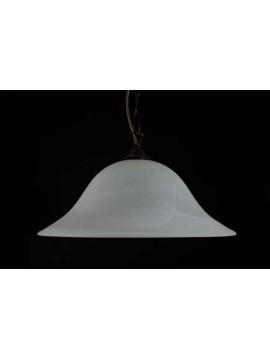 Sospensione classica in vetro 1 luce D.40 Duna Bianco