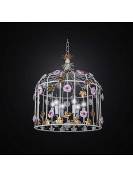Vintage wrought iron chandelier 6 lights BGA 2611 / S50