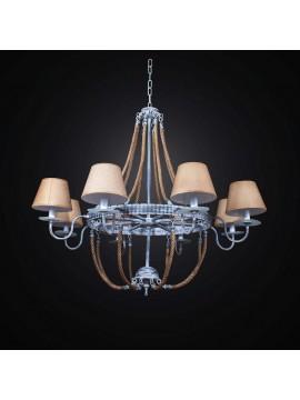 Vintage chandelier with lamps 8 lights BGA 2564/8