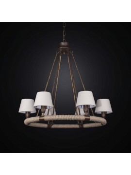 Chandelier with vintage lampshades 6 lights BGA 2568 / 6SP