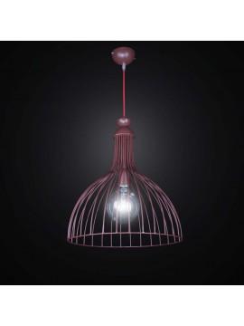 Vintage brown metal chandelier 1 light BGA 2555 / S40