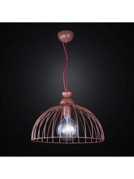 Lampadario marrone metallo marrone vintage 1 luce BGA 2558/S40