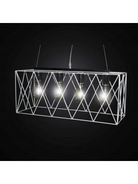 4 lights white and chromed vintage chandelier BGA 2781-S60