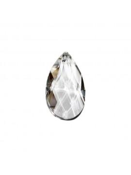 2pz mandorla in cristallo trasparente ricambio per lampadari 28mm con foro