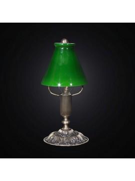 Lampada presidenziale ottone e vetro 1 luce BGA 1299