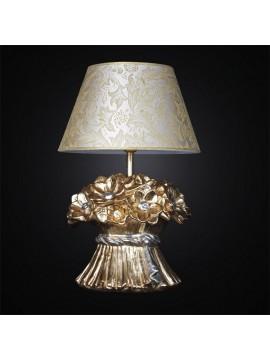 Lume grande in ceramica mazzo di fiori 1 luce BGA 2664/LG