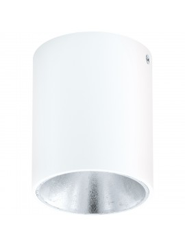 Modern white and silver LED spotlight GLO 94504 Polasso