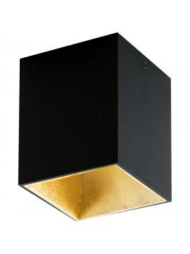 Faretto moderno a led nero e oro GLO 94497 Polasso