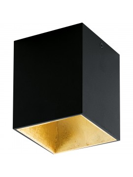 Modern black and gold LED spotlight GLO 94497 Polasso