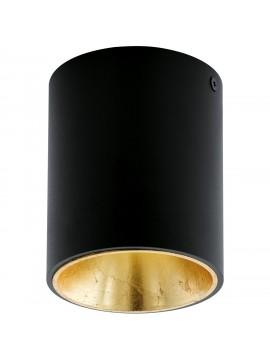 Faretto moderno a led nero e oro GLO 94502 Polasso
