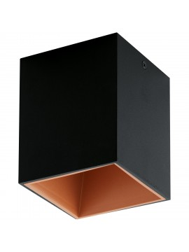 Modern LED spotlight black and copper GLO 94496 Polasso