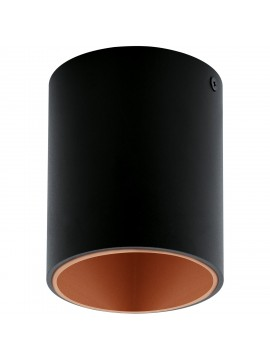 Modern LED spotlight black and copper GLO 94501 Polasso