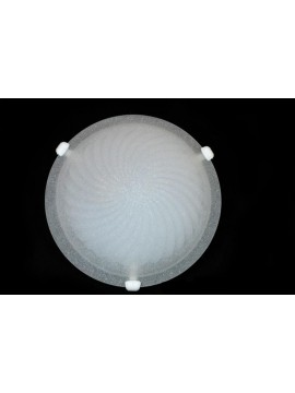 Classic ceiling lamp in glass d.40 1 light Girella Bianco
