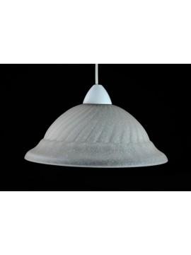 Classic glass suspension d.30 1 light Girella Bianco