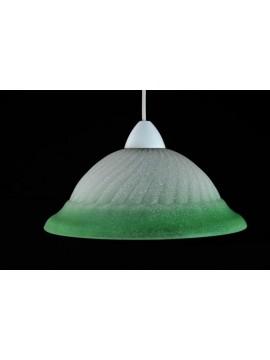 Classic glass suspension d.30 1 light Girella Verde