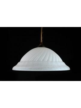 Sospensione classica in vetro d.40 1 luce Girella Bianco