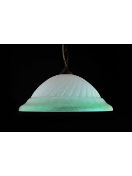 Sospensione classica in vetro d.40 1 luce Girella Verde