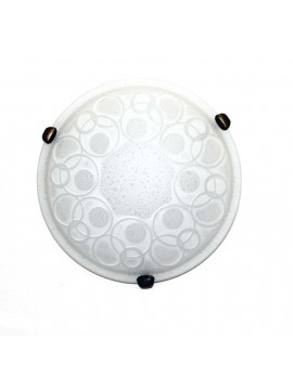 Classic ceiling light in glass d.30 1 light Bolle White