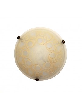 Plafoniera classica in vetro d.40 1 luce Bolle Ambra