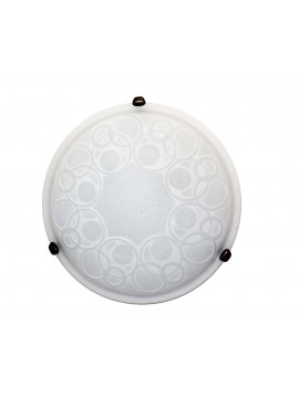 Classic ceiling lamp in glass d.40 1 light Bolle White