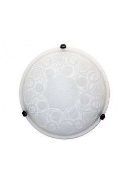 Plafoniera classica in vetro d.40 1 luce Bolle Bianco