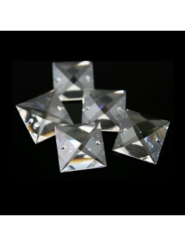 3pz Cristallo quadrato 22mm Trasparente ricambio lampadario appliques accessori