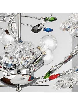 Modern colored crystal chandelier 5 lights Marg-sm